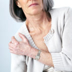 Woman with a rotator cuff tear